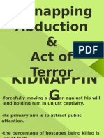 Kidnapping and Abduction