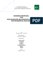 BUSINESS PROPOSAL  FOR POST-DISASTER RESTORATION SERVICES FOR RESIDENTIAL BUILDINGS