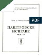 Paštrovske isprave, knjiga III
