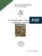 """Resumen """"Guerreros y Campesinos"""" (3RA PARTE)DUBY"""