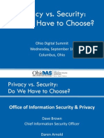 Ohio DGS 2015 Presentation - Privacy vs Security - Daren Arnold / David Brown