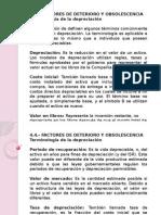 4.4.- Factores de Deterioro y Obsolescencia