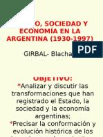 Estado, Sociedad y Economía en La Argentina