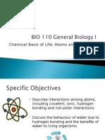 BIO 110 Lecture (Chap 2)