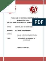Monografia Ley General de Sociedades