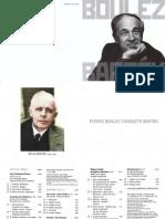 Booklet Pierre Boulez conduct Bartok