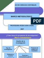 Presentación Marco Metodologico