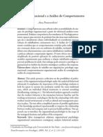 Psicologia Organizacional e Analise Do Comportamento