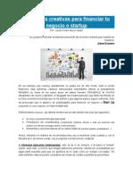 15 Formas Creativas Para Financiar Tu Negocio o Startup