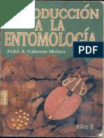 Introducciòn a La Entomologìa. Cabezas Melara, Fidel a.