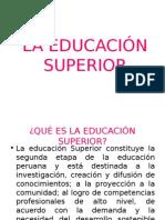 1 La Educación Superior Concepto