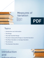 Measures Of Variations
