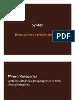 SLIDES - Syntax (Trees & Phrases)