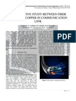 COMPARATIVE STUDY BETWEEN FIBER OPTIC AND COPPER IN COMMUNICATION LINK