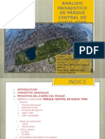 Analisis Paisajistico de Parque Central de Nueva York