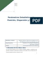 Parámetros Posición y Dispersion