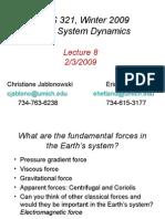 AOSS321 L08 020309 Centrifugal Gravity Coriolis Force