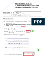 Prova Com Gabarito Calculo e Programacao