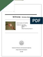 Witricity Seminar Reort