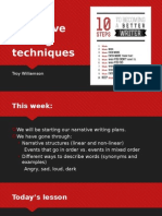 narrative writing techniques