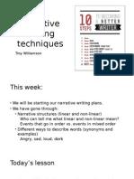 narrative writing techniques handout