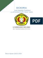 Laporan Biokimia ( Uji Karbohidrat [Bennedict] Dan Lemak )
