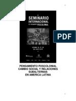 seminario internacional Pensamiento-poscolonial