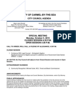 Special Meeting Agenda 10-05-15