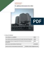 PTPL Additional Information Form 2014