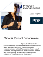Product Endorsement Ppt
