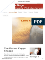 The Karma Kagyu Lineage of Tibetan Buddhism