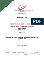 Reglamento de Promoción y Difusión
