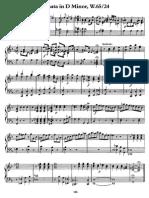 CPE Bach Sonata Re Minore