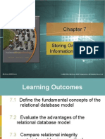 Storing Organizational Information - Databases