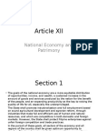 Article XII Philippine Constitution