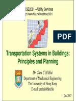 Transportation System in Building 2007
