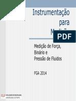 17 e 18 - Medição de Força, Binário e Pressão de Fluidos