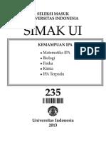 Soal SIMAK UI 235