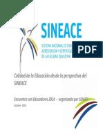 Presentacion Sineace - Encuentro de Educadores - Senati Octubre 2014