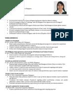 Resume of Diana Yadao