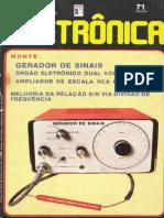 Revista Saber Eletronica nº 071 - Julho de 1978