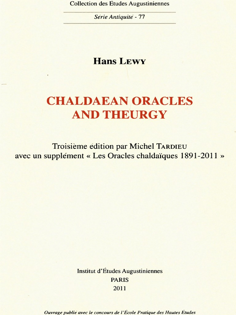 2db374fa424 Chaldaean Oracles and Theurgy