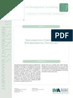 Implementing Corporate Environmental Strategies