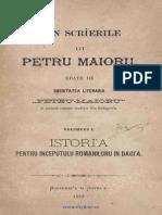 Petru Maior Istoria
