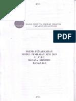 2015 Peperiksaan Percubaan Bahasa Inggeris SPM Pulau Pinang Kertas 2 Marking Scheme