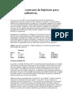 Pruebas de Contraste de Hipótesis Para Variables Cualitativas