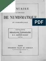 Catalogue des médaillons contorniates / réunis par Charles Robert