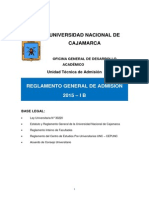 Reglamento Examen Admision 2015 I B