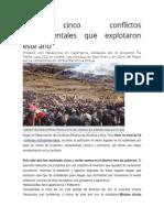 Los Cinco Conflictos Sociambientales Que Explotaron Este Año