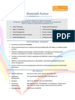 Resume of Shwetabh Kumar, Project Manager at Deloitte